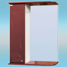 Зеркало-шкаф СТК ГЛОРИЯ 50 левый 525х705х180 вишня, без подсветки