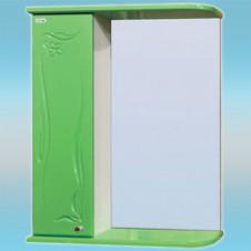 Зеркало-шкаф СТК ГЛОРИЯ 50 левый 525х705х180 салатовый, без подсветки