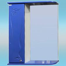 Зеркало-шкаф СТК ГЛОРИЯ 50 левый 525х705х180 синий, без подсветки