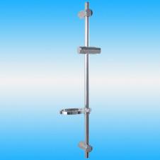 Душевой гарнитур BRAVAT D150CP, штанга 750 мм, мыльница, хром