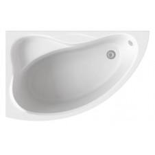 Ванна акриловая BAS ВЕКТРА 1500х900x500 левая, в комплекте с каркасом