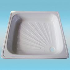 Поддон душевой PRACTIC стальной, квадрат 90x90 белый