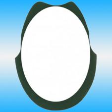Зеркало FRAP F613 овальное с темно-зелеными краями 800x600