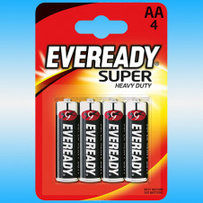 Батарейка EVEREADY Super Heavy Duty R6 FSB4 AA Пальчиковая (4шт)