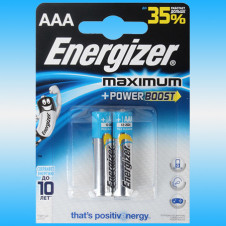 Батарейка ENERGIZER Maximum LR03FSB2 AAA Мизинчиковая (2шт)