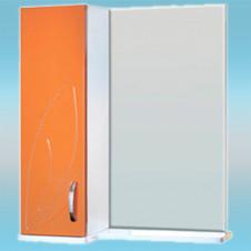 Зеркало-шкаф СТК ВЕСНА левый 570х717х230 мандарин, без подсветки