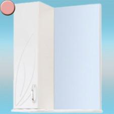 Зеркало-шкаф СТК ВЕСНА левый 570х717х230 розовый, без подсветки