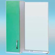 Зеркало-шкаф СТК ВЕСНА левый 570х717х230 салатовый, без подсветки