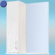 Зеркало-шкаф СТК ВЕСНА левый 570х717х230 синий, без подсветки