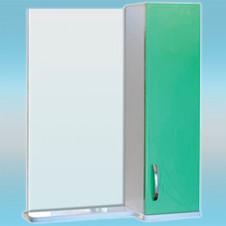 Зеркало-шкаф СТК ВЕСНА правый 570х717х230 салатовый, без подсветки