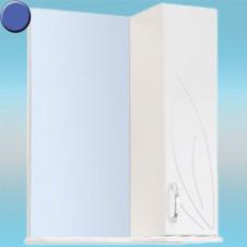 Зеркало-шкаф СТК ВЕСНА правый 570х717х230 синий, без подсветки