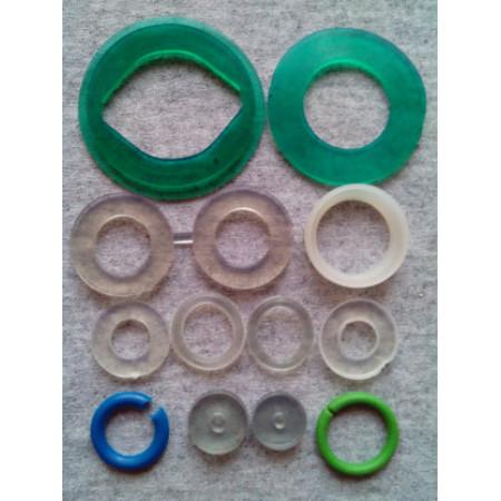Набор сантехнических прокладок САНТЕХНИК №2 для смесителя, силикон