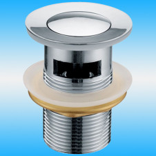 Выпуск для сифона LEDEME L66-2 Click-Clack с переливом, 1 1/4 металлический, круглый, хром