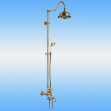 Душевая стойка AKSY BAGNO Ps701-2002-2001 Bronze со смесителем, поворотный излив, бронза