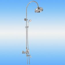 Душевая стойка AKSY BAGNO Ps701-2005-2004 со смесителем, поворотный излив, хром