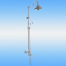 Душевая стойка AKSY BAGNO Ps701-2002-2001 со смесителем, поворотный излив, хром