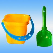 Набор детский, песочный, №4 пластиковый (ведерко + лопатка)
