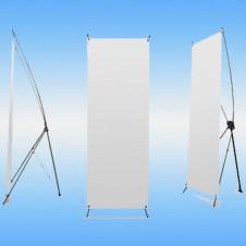 Стенд рекламный SUNBATH с Х-образной опорой и сумкой 80х180