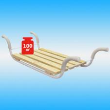Сиденье на ванну КЛАССИК (метал.каркас, 5-реечное дерев. сиденье) бежевое