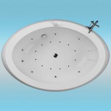 Ванна аквариловая AQUATIKA ЗЕРО 2070х1400x870 правая, монолитная отдельностоящая, без гидромассажа
