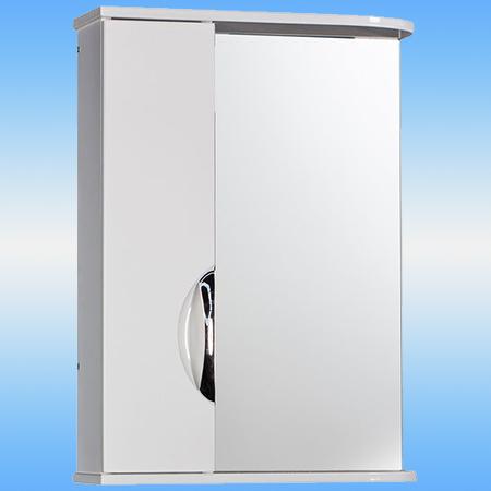 Зеркало-шкаф СТК ДЕКО 55 525х702х180 белый левый, без подсветки