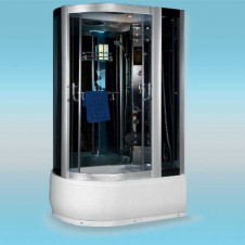 Душевая кабина LUXUS 520R поддон высокий 1200x800x2150 серое стекло, правая