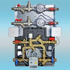 Квартирная станция VALTEC CONTROL MODUL с теплосчётчиком на 1,5 м3/час и модулями водоснабжения 3/4