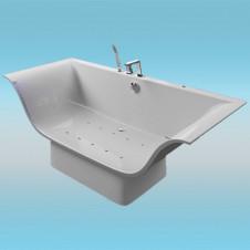 Ванна аквариловая AQUATIKA ПЛАЗМА 1950х800мм монолитная отдельностоящая со стеклом, без гидромассажа