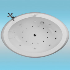 Ванна аквариловая AQUATIKA ЗЕРО 2070х1400x870 левая, монолитная отдельностоящая, без гидромассажа