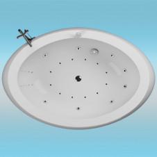 Ванна аквариловая AQUATIKA ЗЕРО РЕФЛЕКСА 2070х1400x870 левая, монолитная отдельностоящая