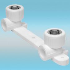 Комплект настенный для смесителя PPR белый ø 20х1/2 внутренняя резьба (25/5)