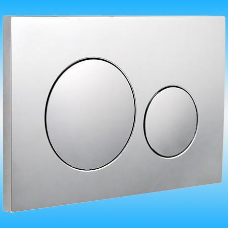 Кнопка для инсталляции АНИПЛАСТ WP1310 двойная PL 2, хром