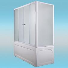 Шторка на ванну МАРКА №1 4-х створчатая 1600×1400 белая