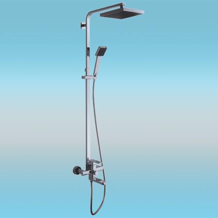 Душевая стойка LEDEME L2433 со смесителем и тропическим душем и ручной лейкой