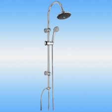 Душевая стойка LEDEME L2452 со смесителем и тропическим душем
