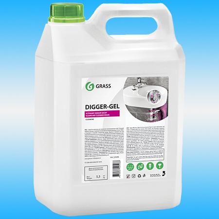 Средство чистящее GRASS DIGGER GEL для прочистки канализационных труб 5,3 кг