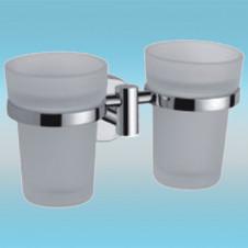 Держатель для 2-х стаканов FRAP F1708 настенный, металлический, хром