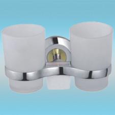 Держатель для 2-х стаканов и 2-х з/щеток FRAP F1808 настенный, металлический, хром