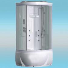Душевая кабина LUXUS 895 поддон высокий 900x900x2170 серое стекло