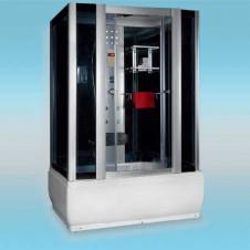 Душевая кабина LUXUS 530 поддон низкий 1500x850x2200 серое стекло, с парогенератором