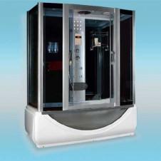 Душевая кабина LUXUS 532 поддон высокий 1750x900x2250 серое стекло, с парогенератором