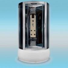 Душевая кабина LUXUS 518 поддон высокий 910x910x2150 серое стекло