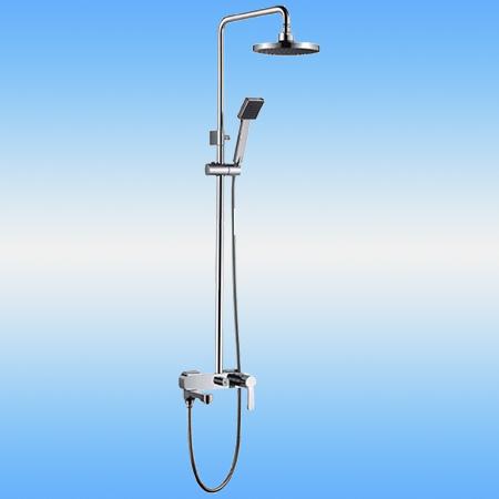 Душевая стойка LEDEME L2407 со смесителем и тропическим душем и ручной лейкой