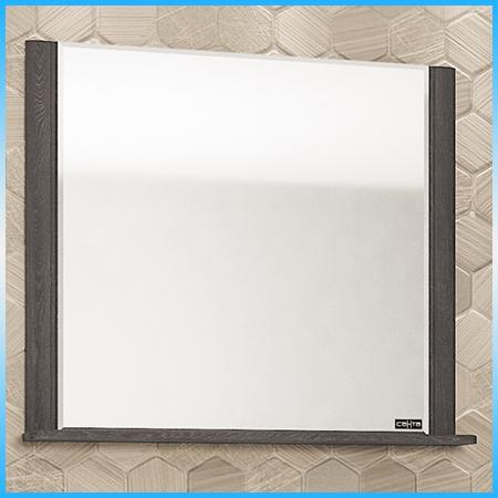 Зеркальный шкаф САНТА АЛЬТАИР 80 белый, 2 светильника, 2 дверцы, 1 полка 700х760х175