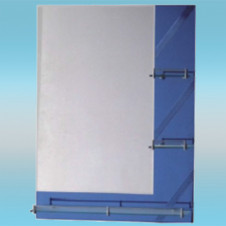 Зеркало LEDEME L605 прямоугольное с синими краями, 3 полочки 750х550