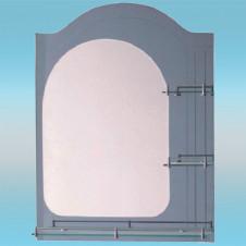 Зеркало LEDEME L606 асимметричное с темно-серыми краями, 3 полочки 800х600