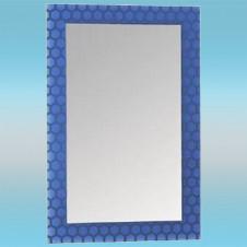Зеркало LEDEME L611 прямоугольное с синими краями 600х400