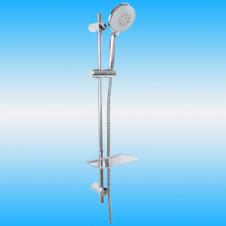 Душевой гарнитур BRAVAT SS152CP-5: шланг, лейка 3 режима, мыльница