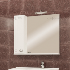 Зеркало-шкаф САНТА КОРАЛЛ-83 белый, левый