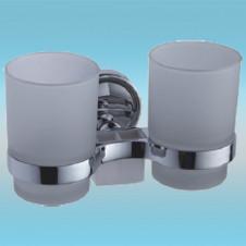 Держатель для 2-х стаканов и 2-х з/щеток LEDEME L3508 настенный, металлический, хром